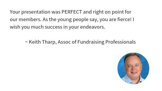 Keith Tharp Speaking Testimonial